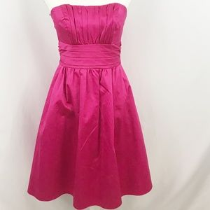 Davids Bridal Fuchsia Strapless Dress
